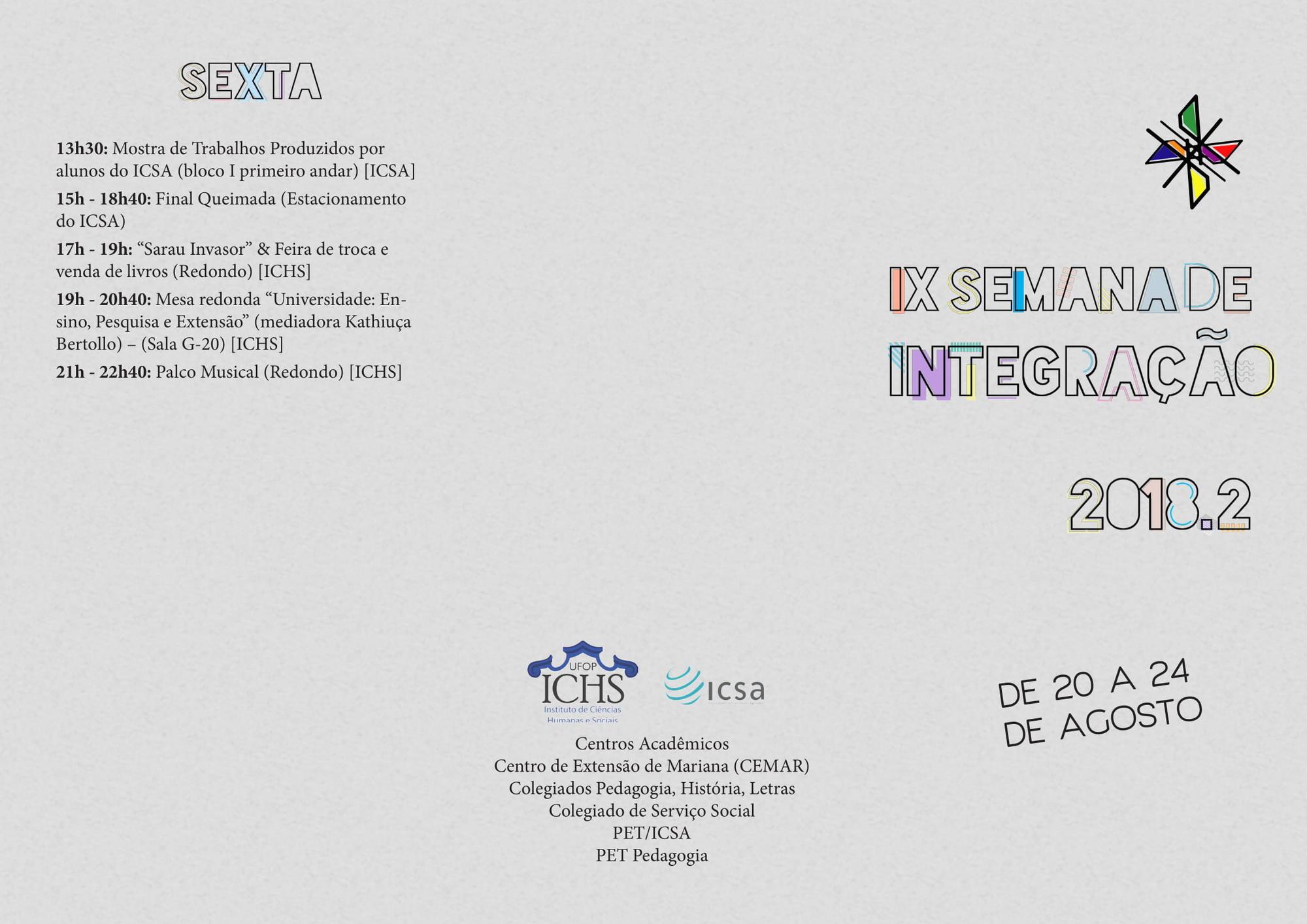 folder semana de integração
